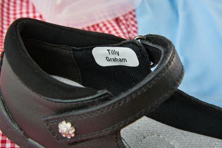 School Name Labels - Shoe Labels